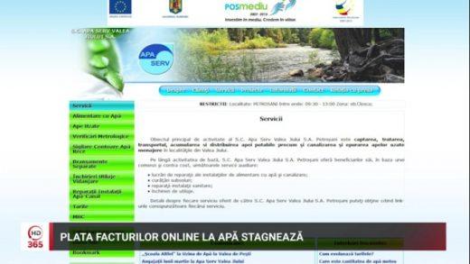Plata facturilor online la apa