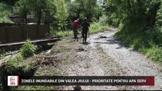Zonele inundabile din Valea Jiului, prioritate pentru Apa Serv