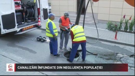 Canalizări înfundate din neglijența populației