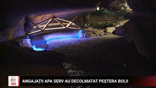 Angajații Apa Serv au decolmatat Peștera Bolii