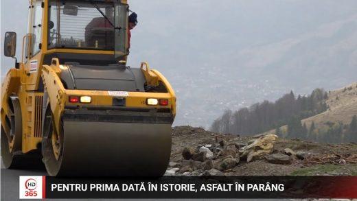 Pentru prima dată în istorie, asfalt în Parâng