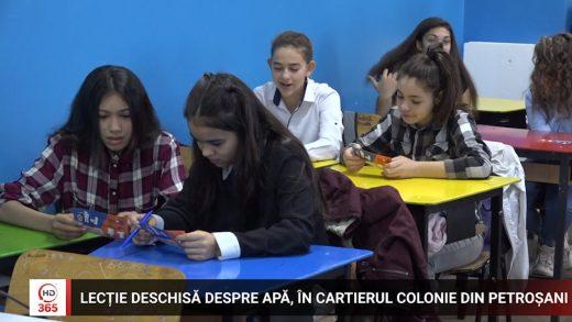 Lectie deschisă despre apă în cartierul Colonie din Petroșani