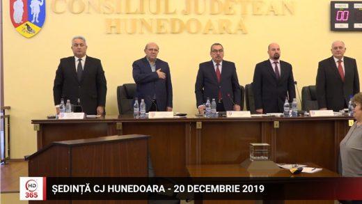Sedinta CJ Hunedoara 20 decembrie 2019